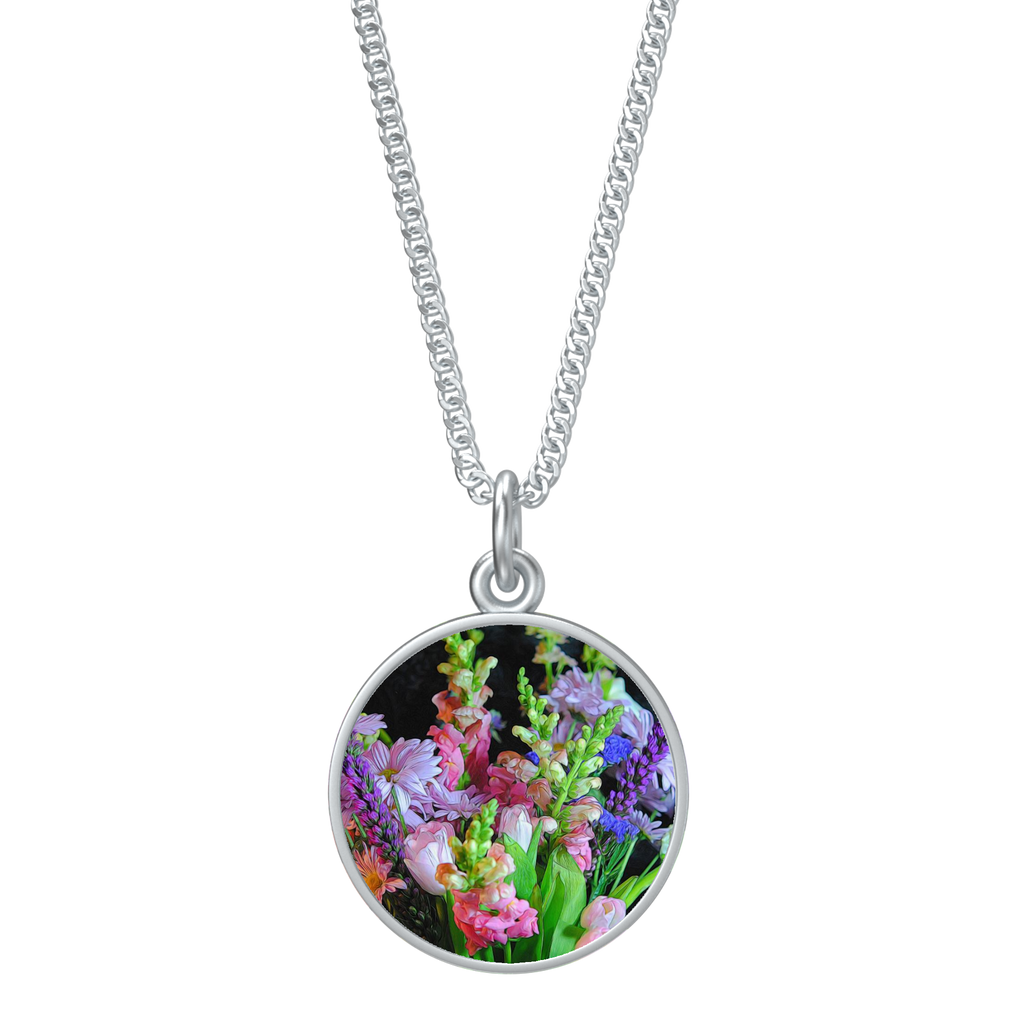 Flowers 15 Round Necklace