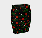 Wild Strawberries Fitted Skirt