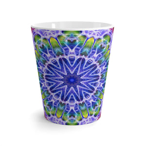 Blue Red Kaleidoscope Latte mug
