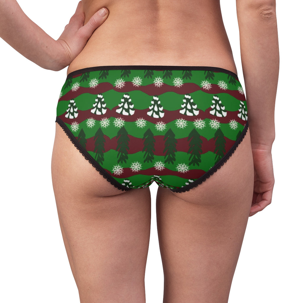 Snow Trees and Stripes Women's Briefs