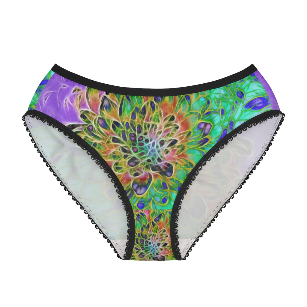 Abstract Peacock Chrysanthemum Women's Briefs