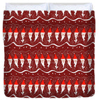 Bearded Santa Pattern - Duvet Cover - expressive-flower-art-goods.myshopify.com