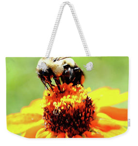 Bee On A Flower - Weekender Tote Bag