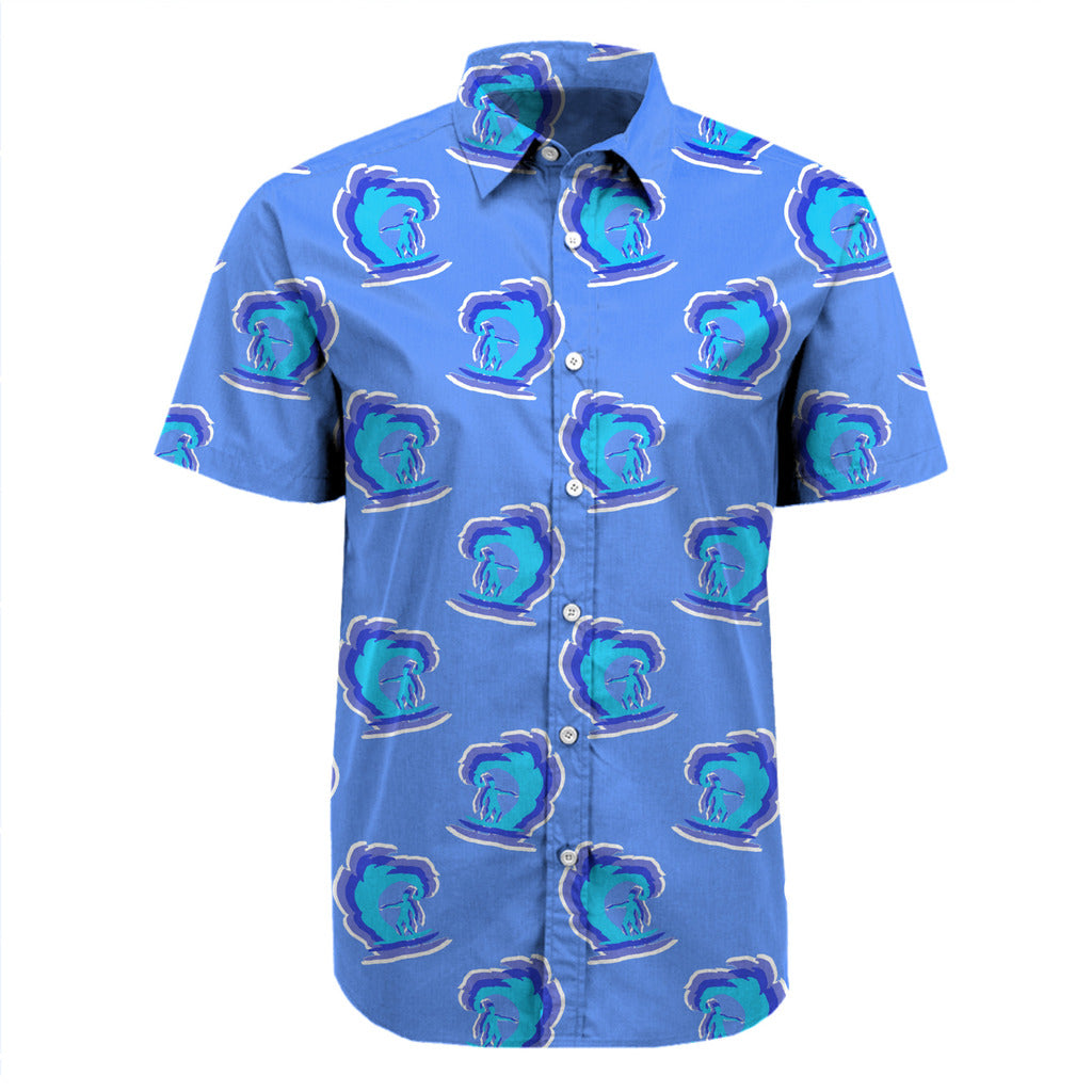 Surfer Pattern Button Up