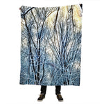 Winter Landscape Skater Throw Blanket
