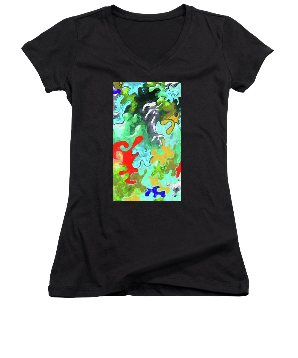 Blobs Collage - Women's V-Neck