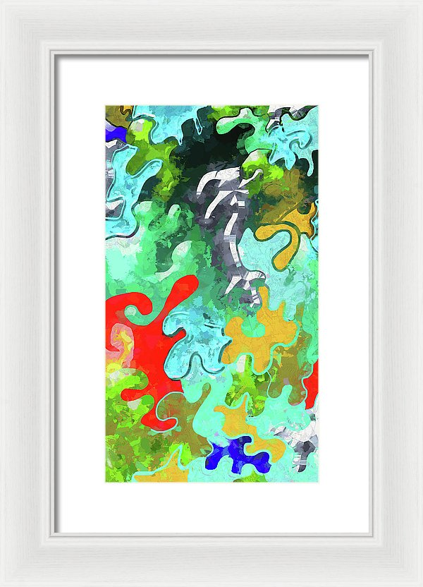 Blobs Collage - Framed Print