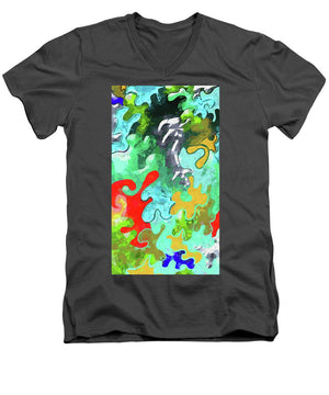 Blobs Collage - Men's V-Neck T-Shirt