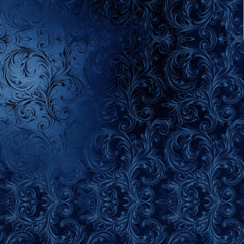 Faux Blue Velvet Victorian Digital Image Download