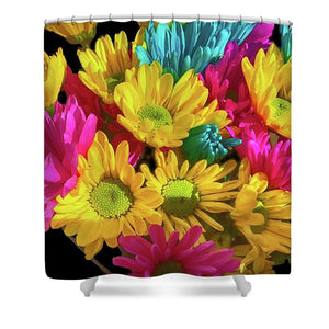 Bright Daisy Bouquet - Shower Curtain