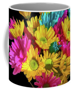Bright Daisy Bouquet - Mug - expressive-flower-art-goods.myshopify.com