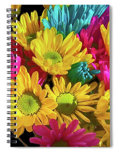 Bright Daisy Bouquet - Spiral Notebook