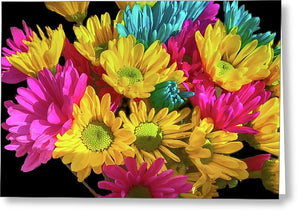 Bright Daisy Bouquet - Greeting Card