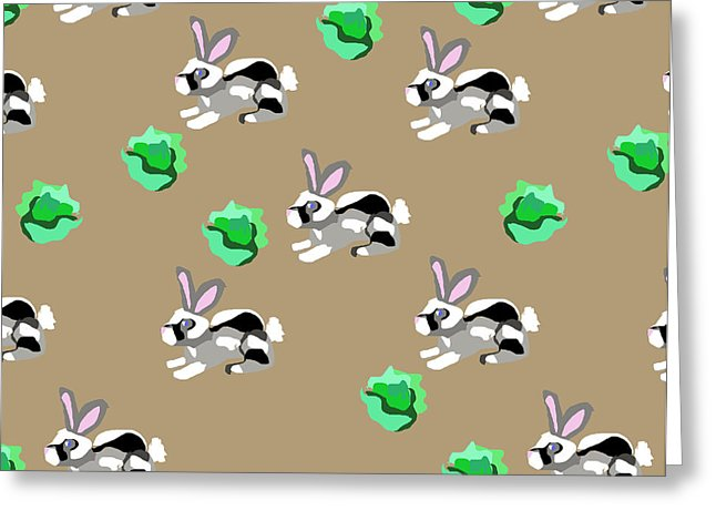 Bunnies Pattern - Greeting Card