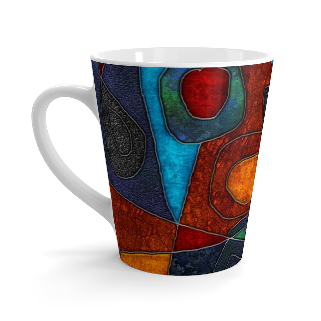 Abstract With Heart Latte mug - expressive-flower-art-goods.myshopify.com
