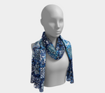 Blue Ice Crystals Long Scarf