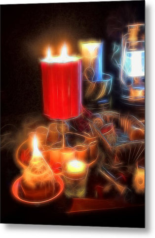 Candle Still Life - Metal Print