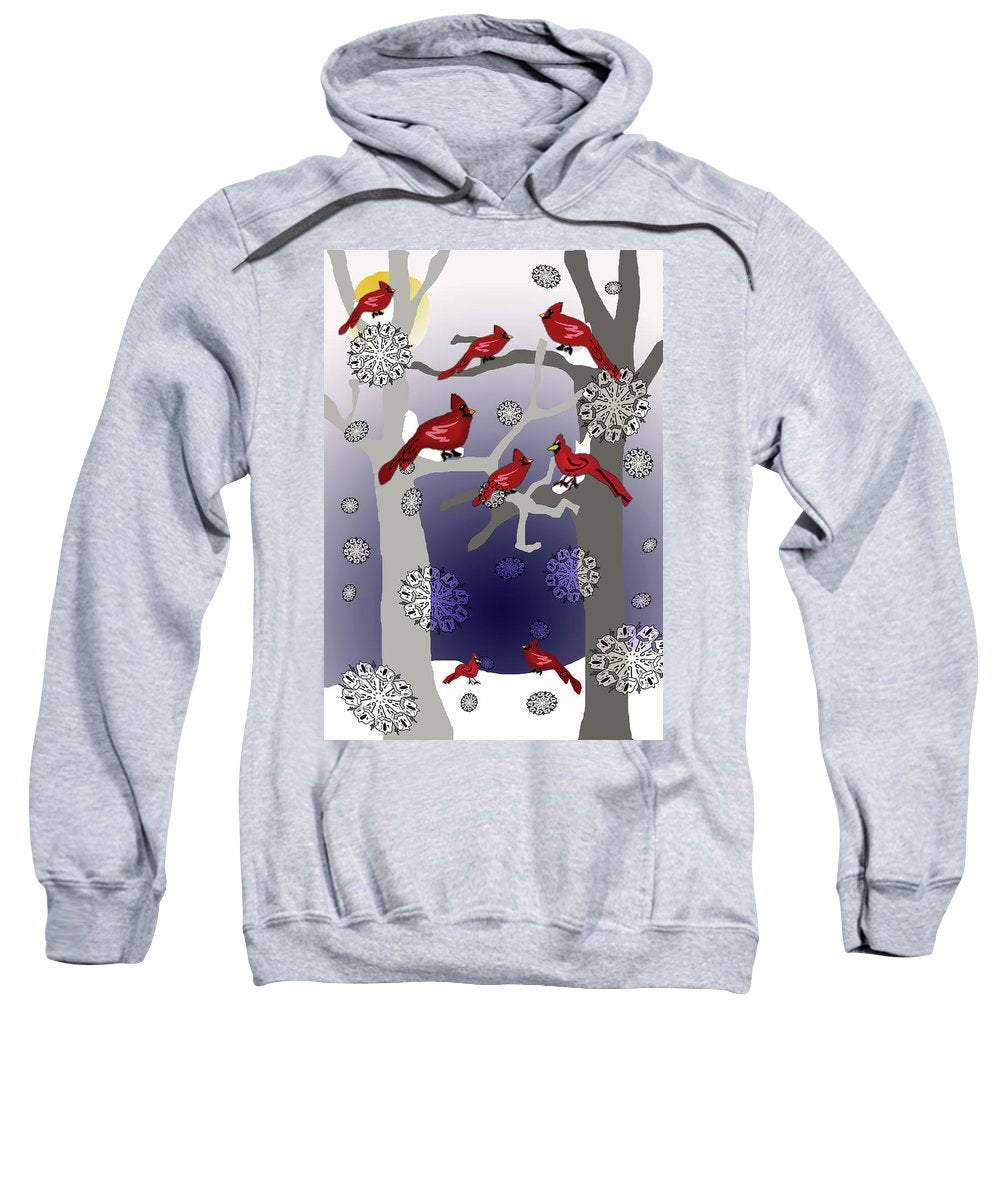Cardinals In The Snow - Sweatshirt