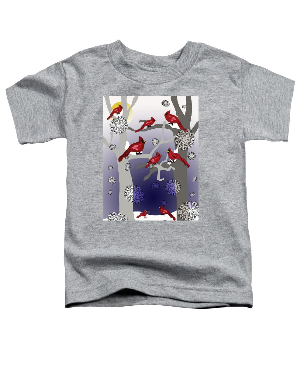 Cardinals In The Snow - Toddler T-Shirt
