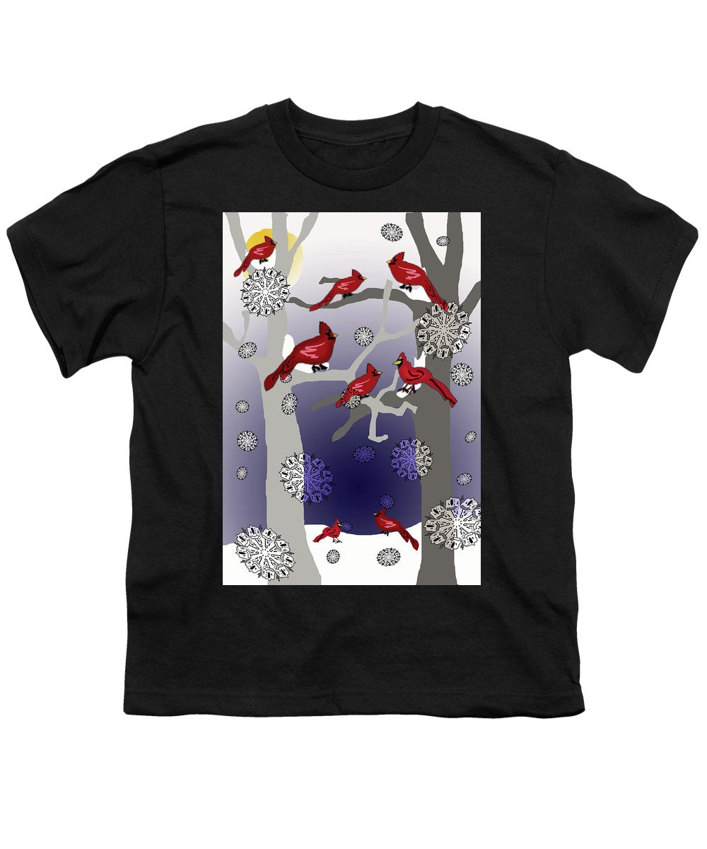 Cardinals In The Snow - Youth T-Shirt