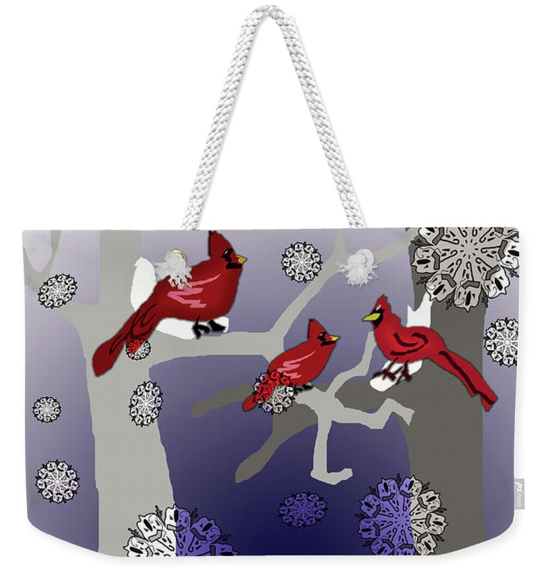 Cardinals In The Snow - Weekender Tote Bag