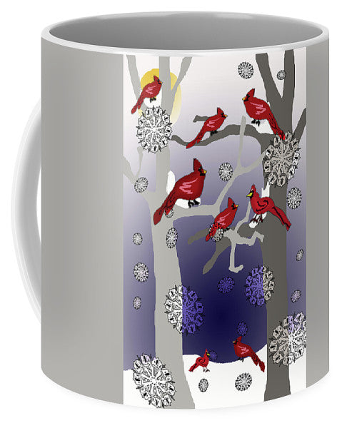 Cardinals In The Snow - Mug