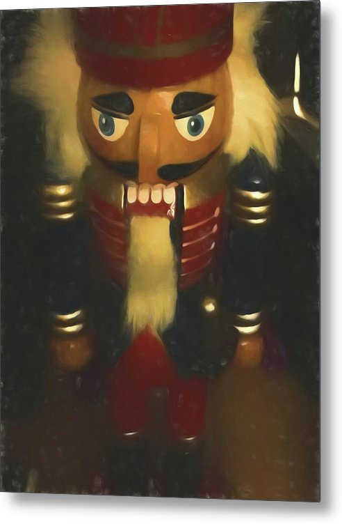 Christmas Nutcracker - Metal Print - expressive-flower-art-goods.myshopify.com