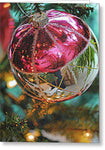 Christmas Pink And Silver Decorations - Greeting Card - expressive-flower-art-goods.myshopify.com