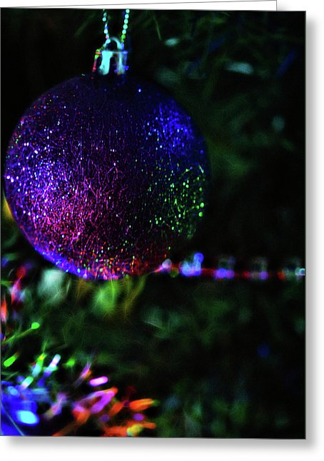 Christmas Purple Glitter Tree Ornament - Greeting Card - expressive-flower-art-goods.myshopify.com