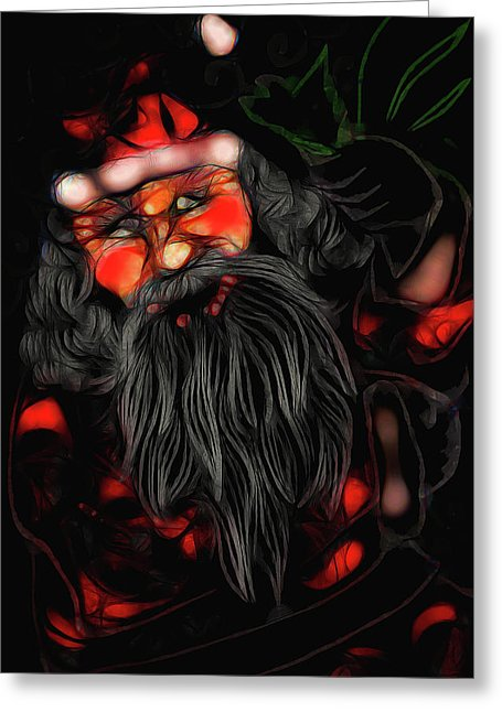 Christmas Santa Drawing - Greeting Card - expressive-flower-art-goods.myshopify.com