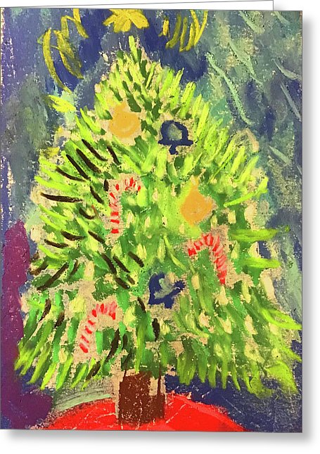 Christmas Tree Pastel - Greeting Card - expressive-flower-art-goods.myshopify.com