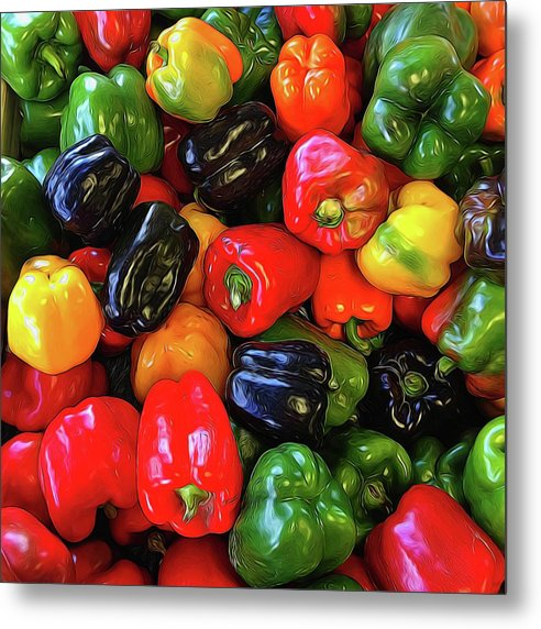 Colorful Bell Peppers - Metal Print