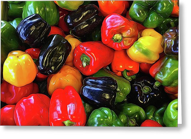 Colorful Bell Peppers - Greeting Card