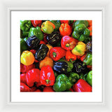 Colorful Bell Peppers - Framed Print