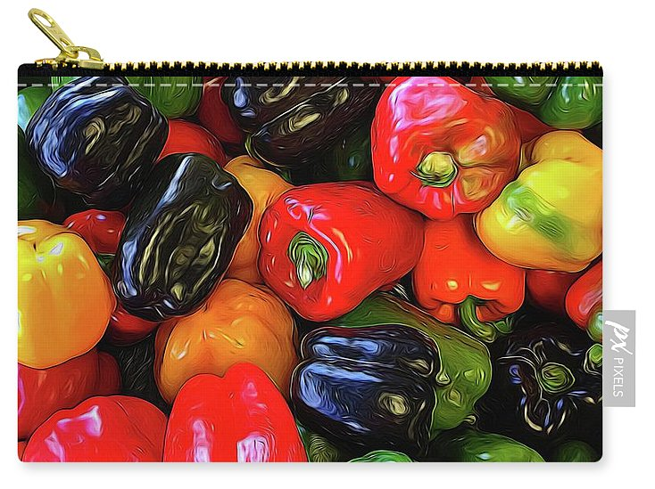 Colorful Bell Peppers - Carry-All Pouch