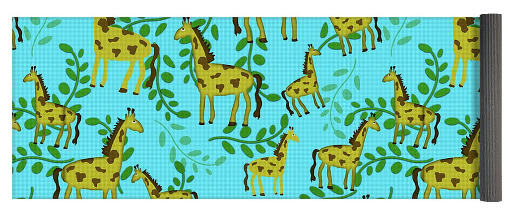 Cute Giraffes Pattern - Yoga Mat