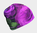 Purple Lisianthus Flowers Hat