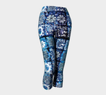 Blue Ice Crystals Capris