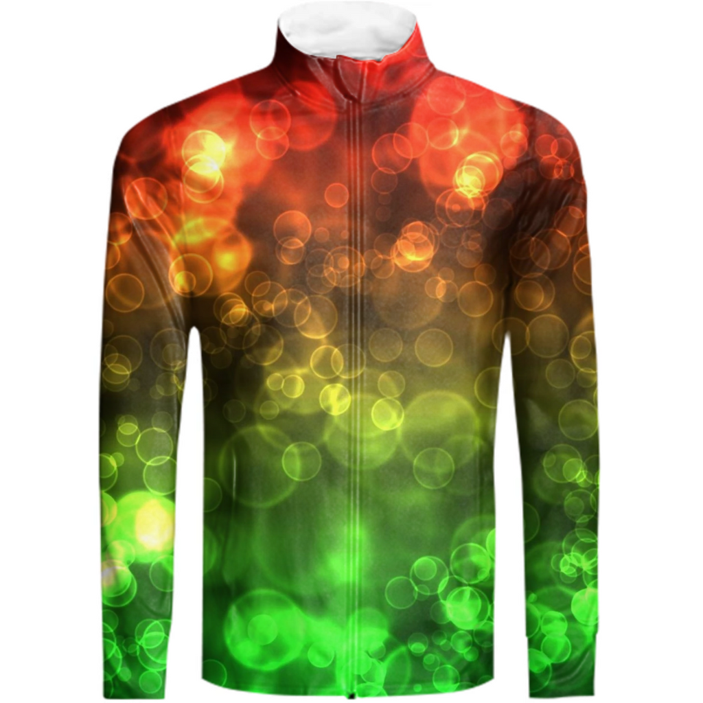 Red Green Bokeh Track Suit Jacket - expressive-flower-art-goods.myshopify.com
