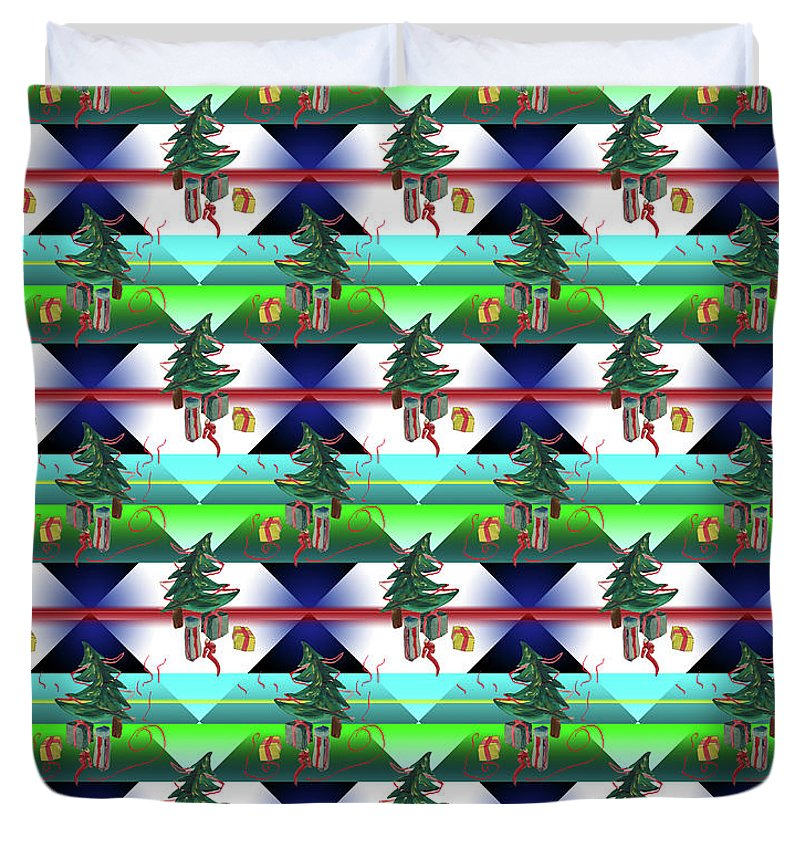 Dancing Christmas Tree - Duvet Cover