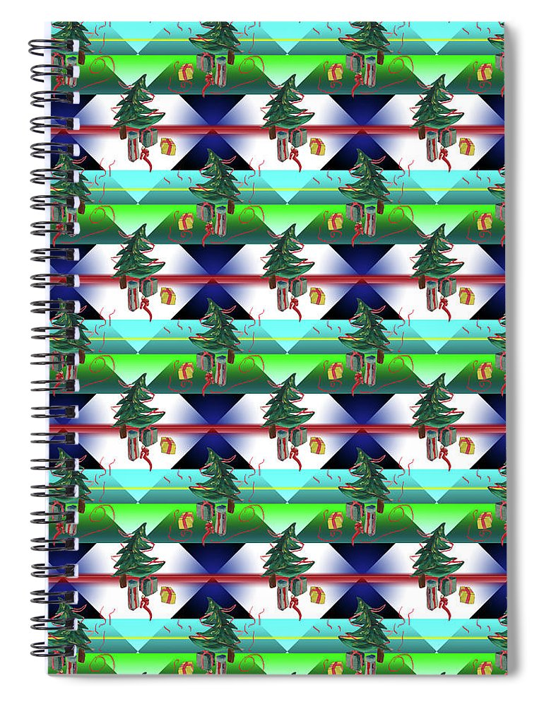 Dancing Christmas Tree - Spiral Notebook