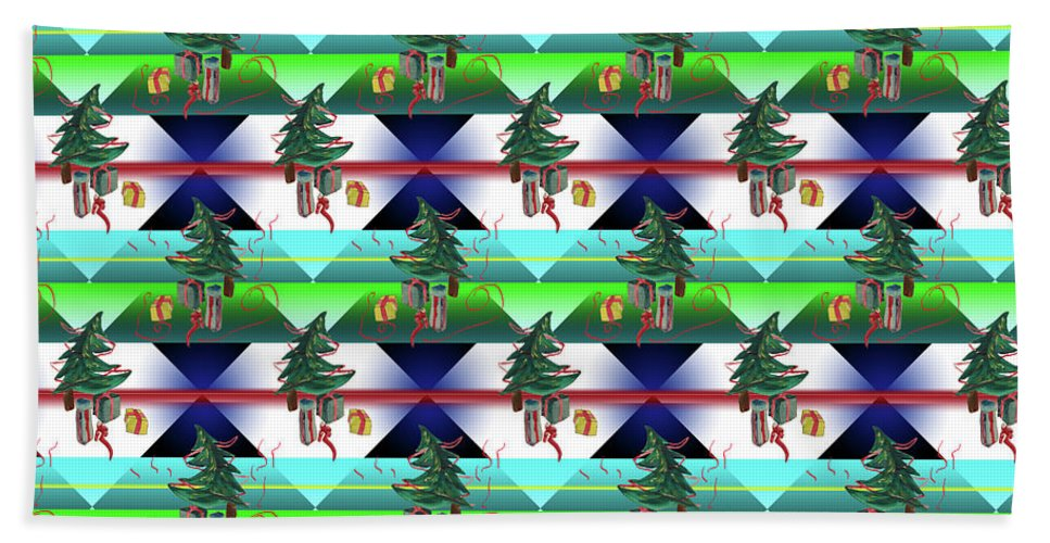 Dancing Christmas Tree - Beach Towel