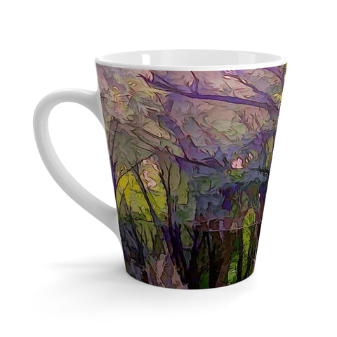 Into The Woodlands Latte mug