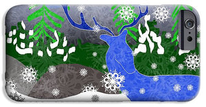 Deer In The Snow - Phone Case - expressive-flower-art-goods.myshopify.com
