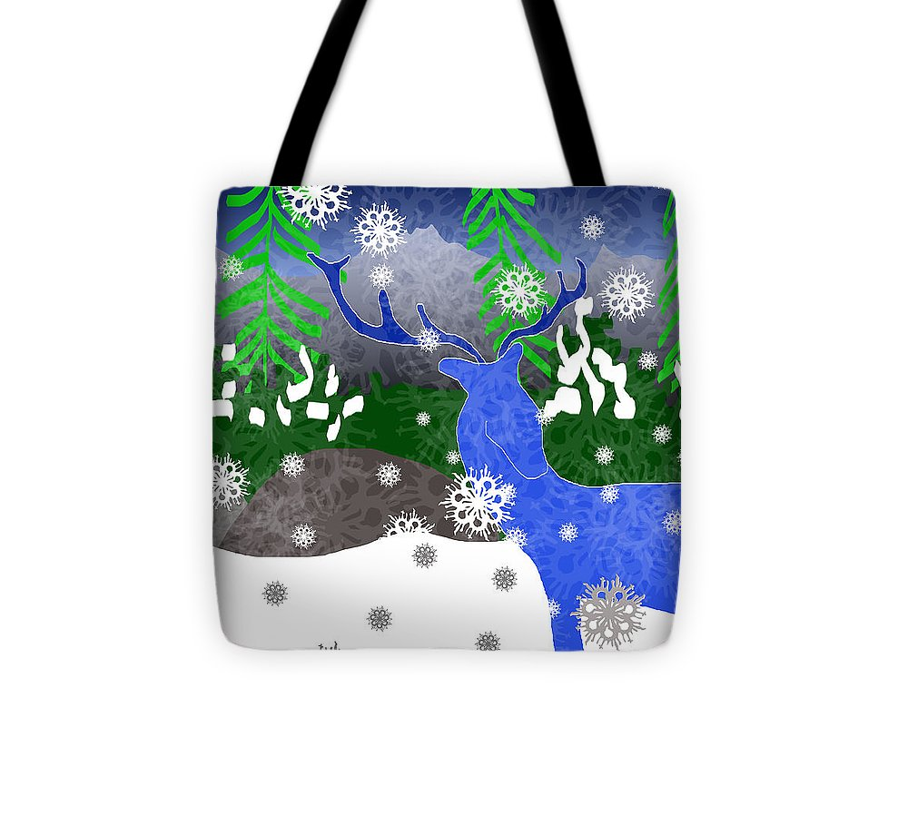Deer In The Snow - Tote Bag