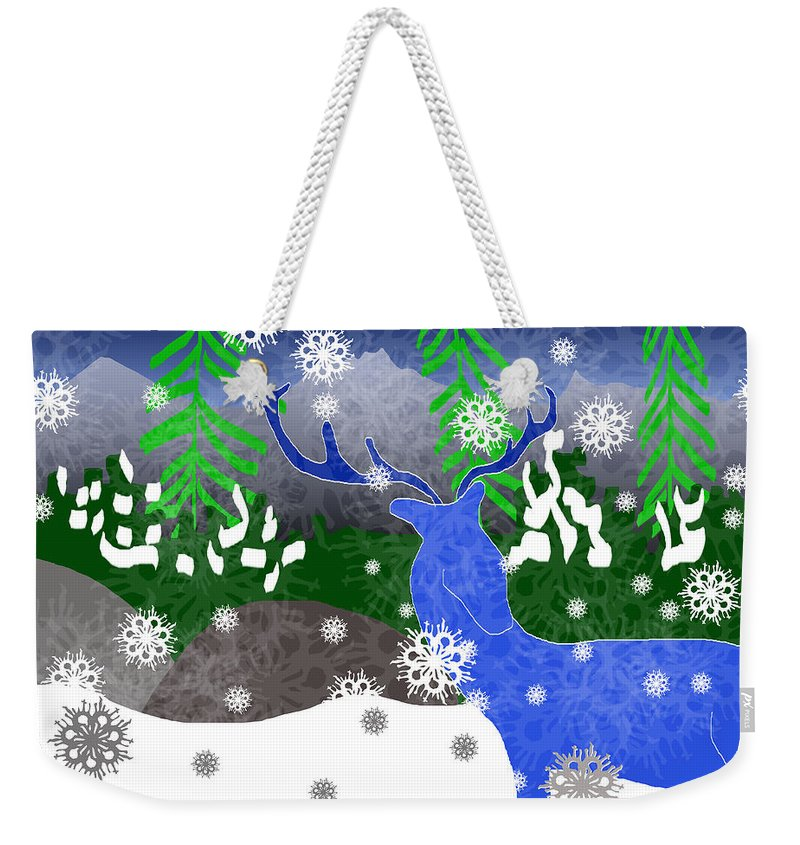 Deer In The Snow - Weekender Tote Bag