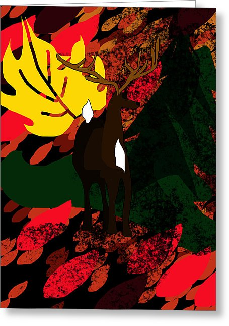 Deer In The Woods - Greeting Card