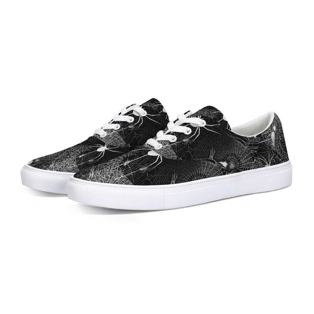 Spider Webs Lace Up Canvas Shoe