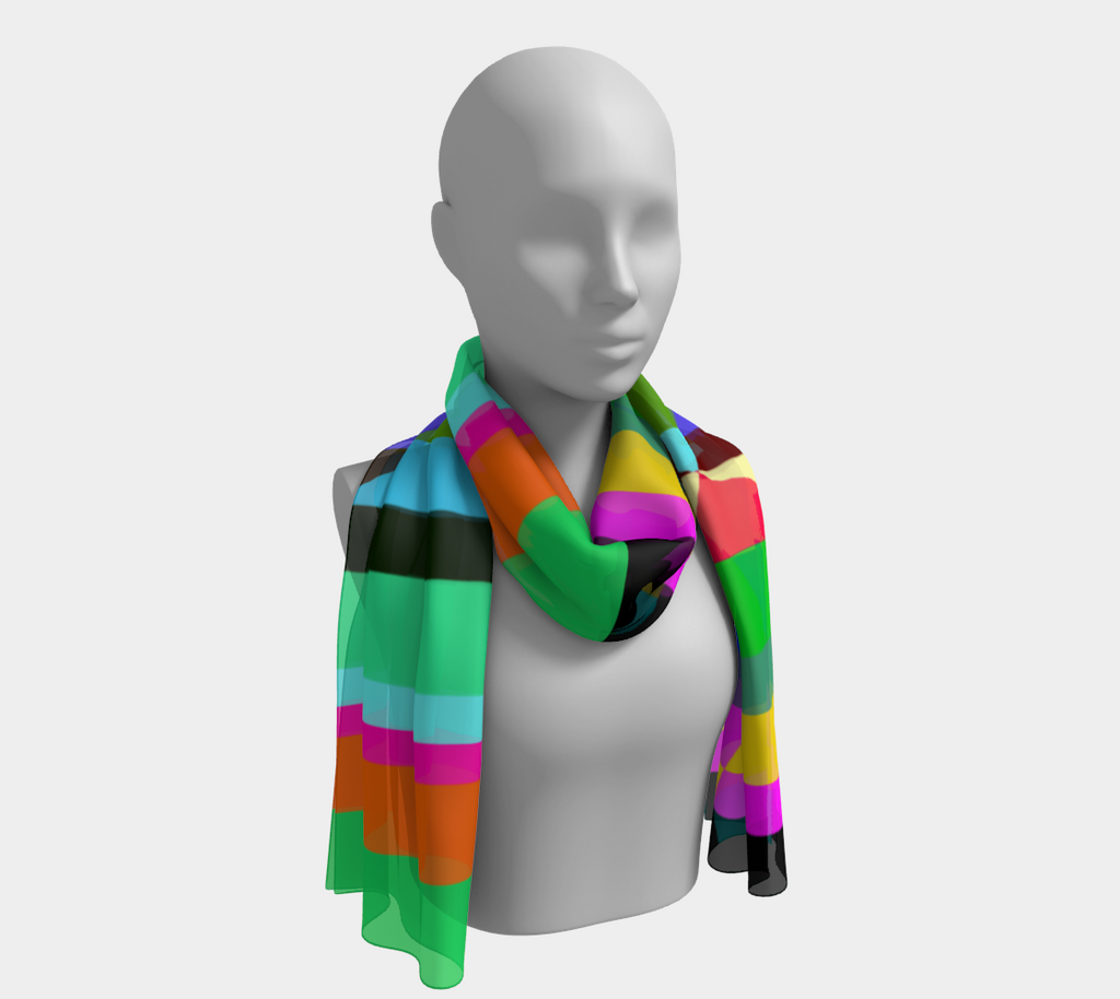 Stripes Interrupted Long Scarf