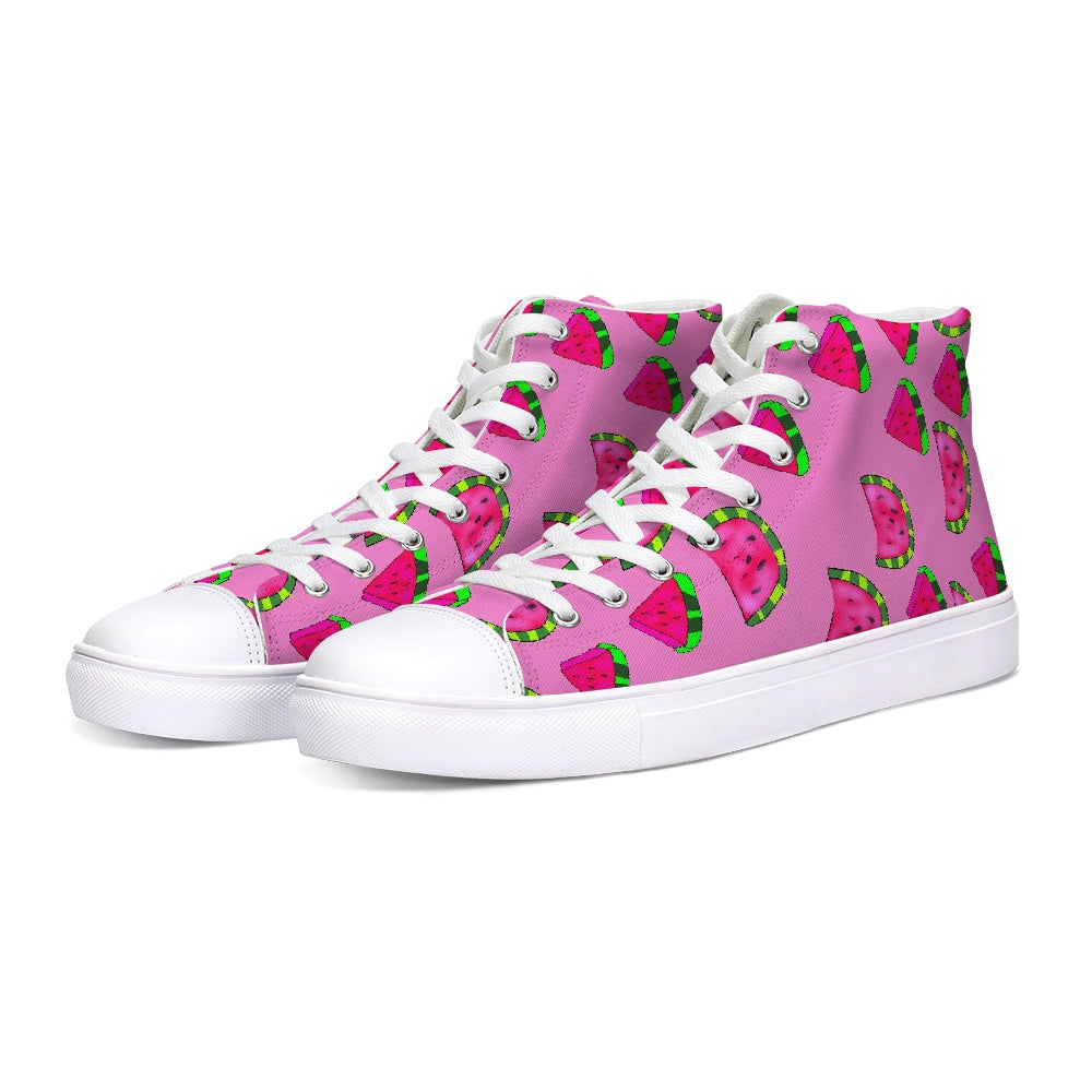 Watermelon Pattern Hightop Canvas Shoe